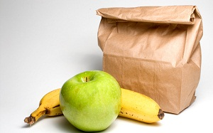 Bag Lunch with Fruit